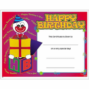 Happy Birthday Certificates - Click to enlarge