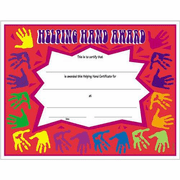 Helping Hand Certificates - Click to enlarge