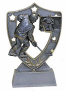 Star Shield Engraved Trophy - Hockey - Click to enlarge