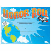 Honor Roll Airplane Certificates - Click to enlarge