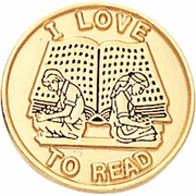 I love to Read Pins - Click to enlarge