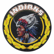 Indians Mascot Medal Insert - Click to enlarge