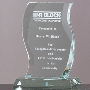 Crystal Jade Glass Scroll Award - Click to enlarge