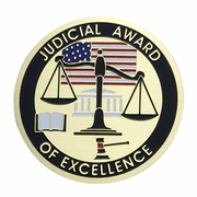 Judicial Award Of Excellence Medal Insert (Etched) - Click to enlarge