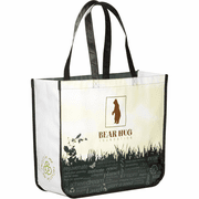 Laminated Non-Woven Large Custom Shopping Tote - Click to enlarge