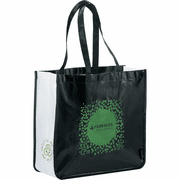 Laminated Non-Woven Large Shopper Tote (Black) - Click to enlarge