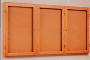 Enclosed Bulletin Boards - 3 Doors - Click to enlarge