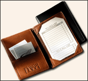 Leather Fold-Over Note-Size Portfolios - Click to enlarge