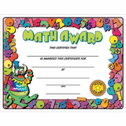 Math Certificate Award - Click to enlarge