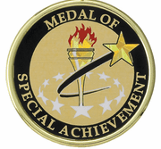 Medal Of Special Achievement Mylar Decal Medal Insert - Click to enlarge