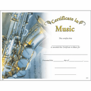 Music Certificates - Click to enlarge