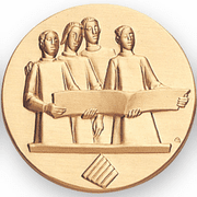 Music Choir Litho Medal Insert - Click to enlarge