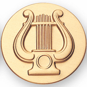 Music Lyre Litho Medal Insert - Click to enlarge