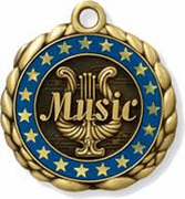Music Medals w/Custom Ring - Click to enlarge