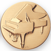 Music Piano Litho Medal Insert - Click to enlarge