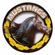 Mustangs Mascot Medal Insert - Click to enlarge
