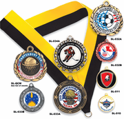 Custom Mylar Insert Medals - Click to enlarge