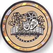 Drama / Theater Mylar Decal Medal Insert - Click to enlarge
