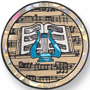 Music Lyre Mylar Decal Medal Insert - Click to enlarge