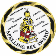 Spelling Bee Award Mylar Decal Medal Insert - Click to enlarge