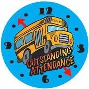 Outstanding Attendance Motivational Stickers - Click to enlarge