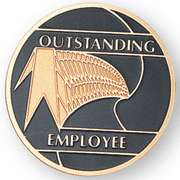 Outstanding Employee Medal Insert (Etched) - Click to enlarge