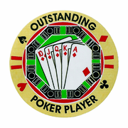 Outstanding Poker Player () Mylar Decal Medal Insert - Click to enlarge