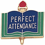 Perfect Attendance Lapel Pins - Click to enlarge