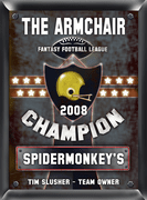 Personalized Fantasy Football Champion Plaque - Click to enlarge