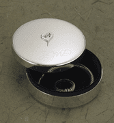 Personalized Silver-plated Jewelry Box with Raised Heart - Click to enlarge