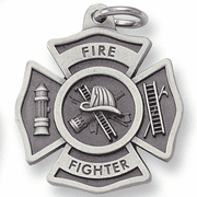 Pewter Key Chains -Firefighter - Click to enlarge