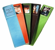 Leather Bookmark with Photo Holder - Click to enlarge