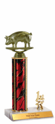 Trophies With Place Trim (1st, 2nd, or 3rd) - Pig Figure - Click to enlarge
