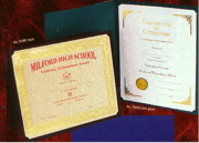 Personalized Certificate Folders with Gold Stamp - Click to enlarge