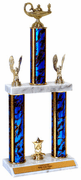 Quick-Ship Champions Line 3-Column Trophies - Academic Figure - Click to enlarge