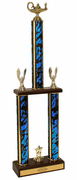 Two-Tier Championship Trophy w/ Wood Base - Academic Figure - Click to enlarge