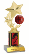 Spinner Trophy with Column - Basketball - Click to enlarge