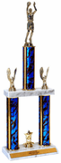 Quick-Ship Two-Tier Trophies - Basketball Shooter - Click to enlarge