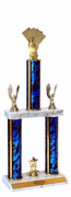 Quick-Ship Two-Tier Trophies with Cards Figure - Click to enlarge