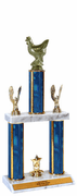 Quick-Ship Two-Tier Trophies - Chicken - Click to enlarge