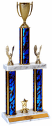 Quick-Ship Two-Tier Trophies with Cup Figure - Click to enlarge