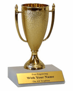 Participation Trophies with Marble Platform - Cup - Click to enlarge