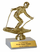 Participation Trophies with Marble Platform - Downhill Skiing - Click to enlarge