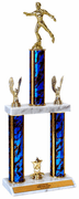Quick-Ship Two-Tier Trophies with Figure Skating Figure - Click to enlarge