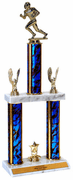 Quick-Ship Two-Tier Trophies with Football Figure - Click to enlarge