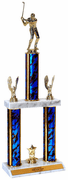 Quick-Ship Two-Tier Trophies with Golf Figure - Click to enlarge
