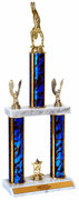 Quick-Ship Two Tier Trophies - Gymnastics - Click to enlarge