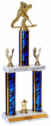 Quick-Ship Two-Tier Trophies with Roller Hockey Figure - Click to enlarge