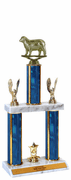 Quick-Ship Two-Tier Trophies with Sheep Figure - Click to enlarge