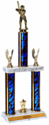 Quick-Ship Two-Tier Trophies with Softball Figure - Click to enlarge
